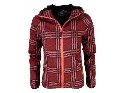 Dámská softshellová bunda Rejoice - Campanula (červená) (Velikost XS)