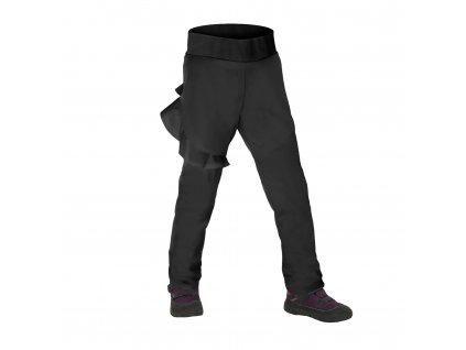 Unuo, Batolecí softshellové kalhoty s fleecem pružné Fantasy, Černá Velikost: 92/98