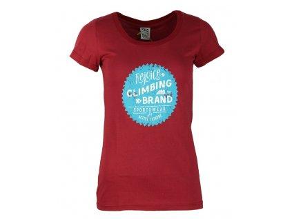 Dámské bavlněné tričko Rejoice - Gentiana Women (červené) (Velikost XS)