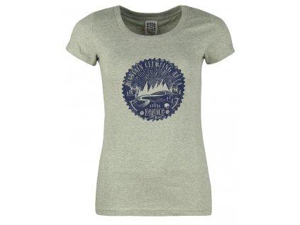 Dámské bavlněné tričko Rejoice - Gentiana Women (šedé) (Velikost XS)