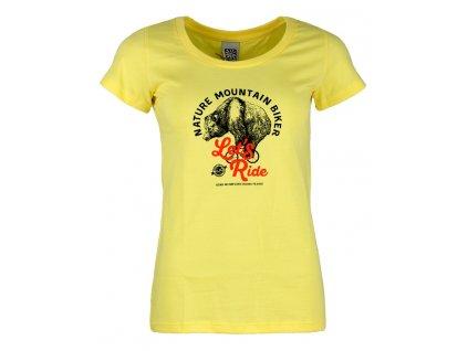 Dámské bavlněné tričko Rejoice - Gentiana Women (žluté) (Velikost XS)