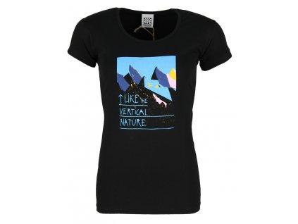 Dámské elastické tričko Rejoice - Rose (černé) (Velikost XS)