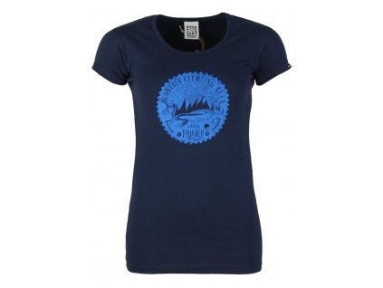 Dámské elastické tričko Rejoice - Rose (tmavě modré) (Velikost XS)
