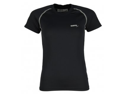 Dámské funkční bambusové triko Outdooria - Free Style (černé - bílé logo) (Velikost XL)