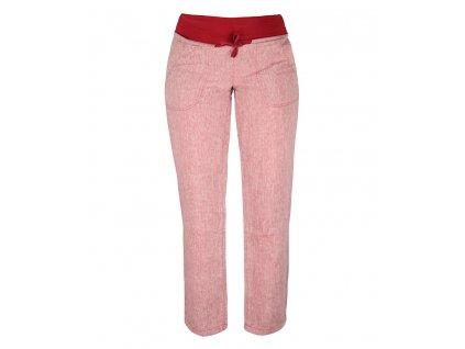 Dámské lněné kalhoty Rejoice -  Urtica (červené) (Velikost XS)