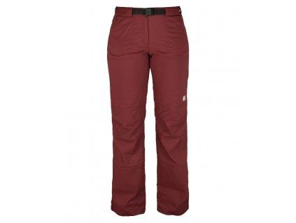 Dámské strečové kalhoty Rejoice - Peppermint (vínové) (Velikost XS)