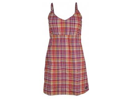 Dámské šaty Rejoice - Plantago (červeno-fialové) (Velikost XS)