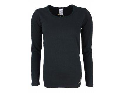 Dámské tričko s dlouhým rukávem Rejoice - Rose Plus (černé) (Velikost XXXL)