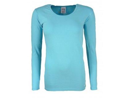 Dámské tričko s dlouhým rukávem Rejoice - Rose Plus (modré) (Velikost XS)