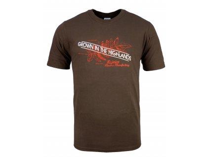 Pánské bavlněné tričko Rejoice - Gentiana Men (hnědé) (Velikost XXXL)