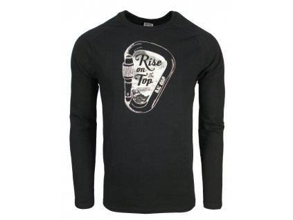 Pánské bavlněné tričko s dlouhým rukáve Rejoice - Lamium (černé) (Velikost XXL)