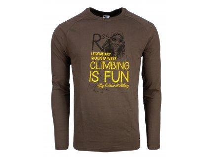 Pánské bavlněné tričko s dlouhým rukáve Rejoice - Lamium (hnědé) (Velikost  XXL) e4ec49edda