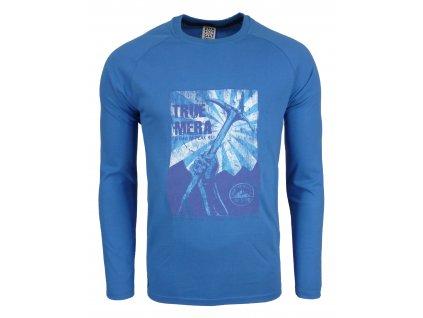 Pánské bavlněné tričko s dlouhým rukáve Rejoice - Lamium (modré) (Velikost  XXL) 612ca46e40