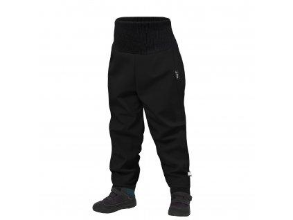 Unuo, Batolecí softshellové kalhoty s fleecem Street, Černá