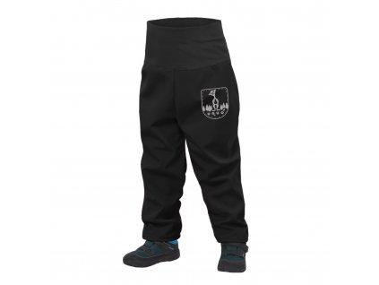 Unuo, Batolecí softshellové kalhoty s fleecem, Černá