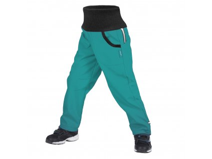 Unuo, Dětské softshellové kalhoty s fleecem Street, Sv. Smaragdová