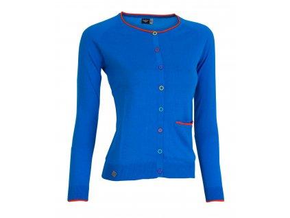 Dámský svetr Woox - W Button Blue
