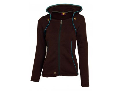 Dámská mikina Woox - Tune Fleece Ladies´ Hood Brown