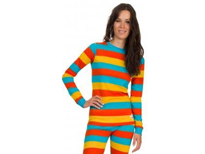 Dámské triko Woox - Bodyheat Ladies´ Long Sleeve Stripy