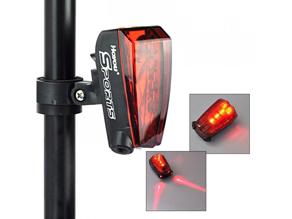 Blikačka na kolo Hoyon RJ-0160 (5 + 2 LED) bezpečnostní laserové paprsky