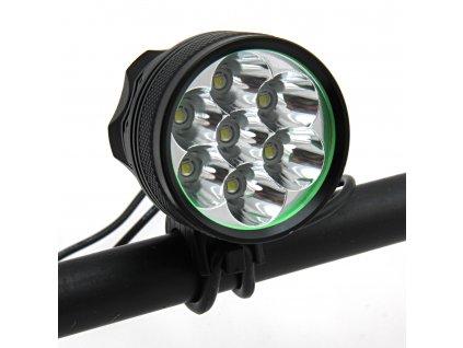 Extrémně výkonná svítilna na kolo a čelovka Boruit RJ-0015 (5000 lm)