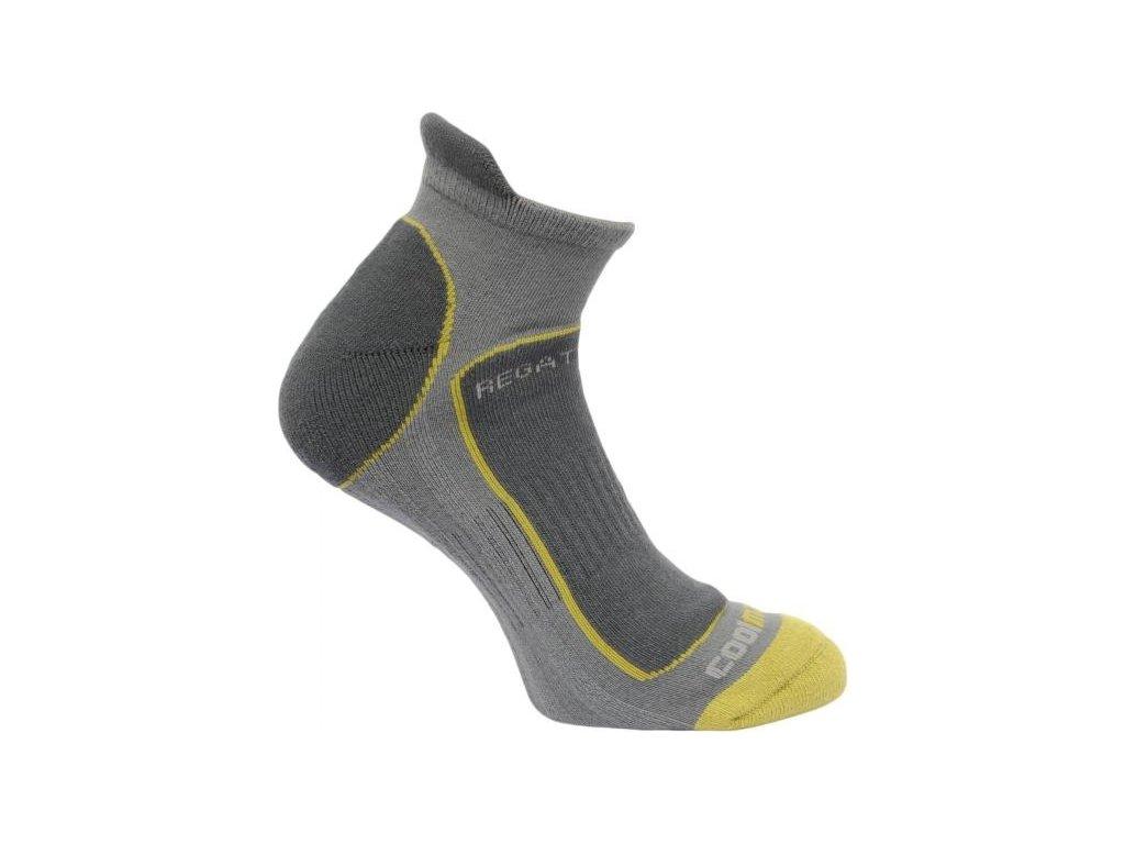 Pánské funkční ponožky Regatta RMH030 TRAIL RUNNER Granite/Oasis Green