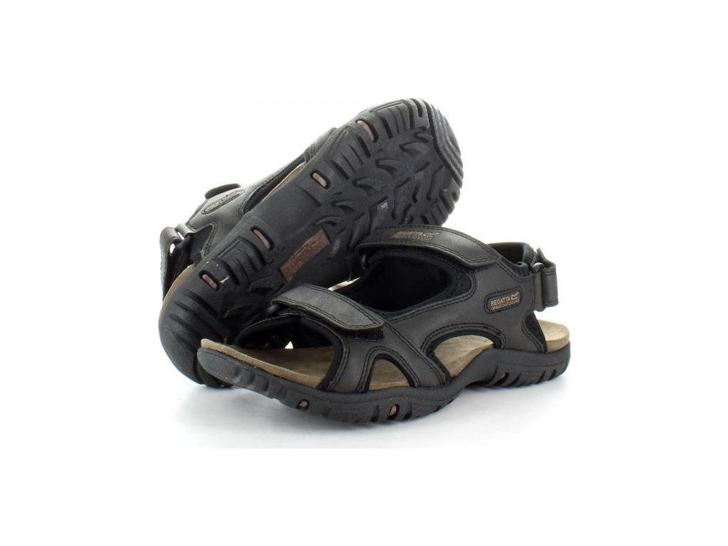 Czarne sandały męskie Regatta RMF331 Haris