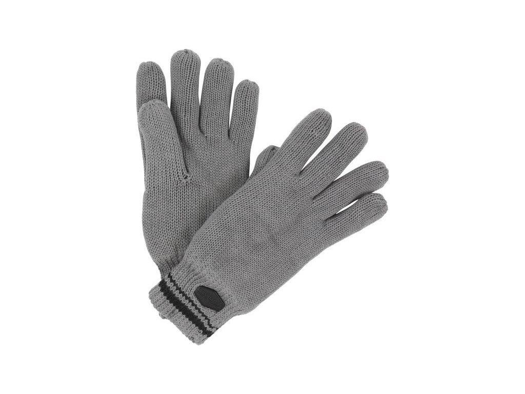 Męskie rękawice dzianinowe Regatta RMG018 BALTON Glove Szare