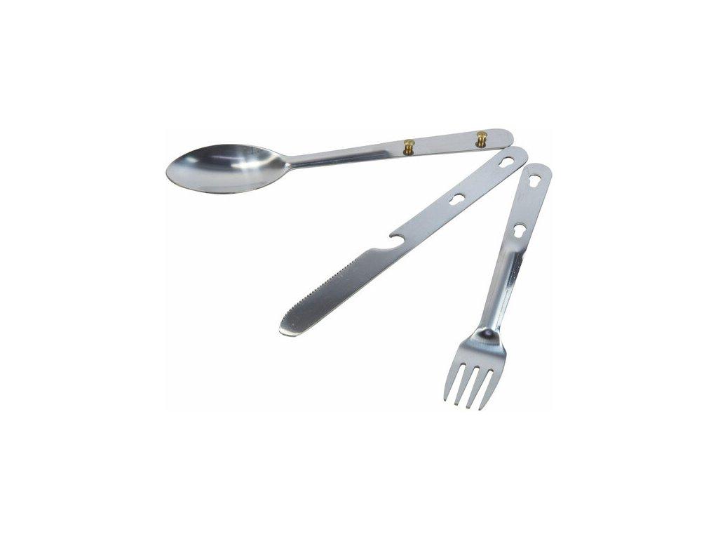 Zestaw sztućców turystycznych dla 1 osoby Regatta RCE129 Steel Cutlery Set