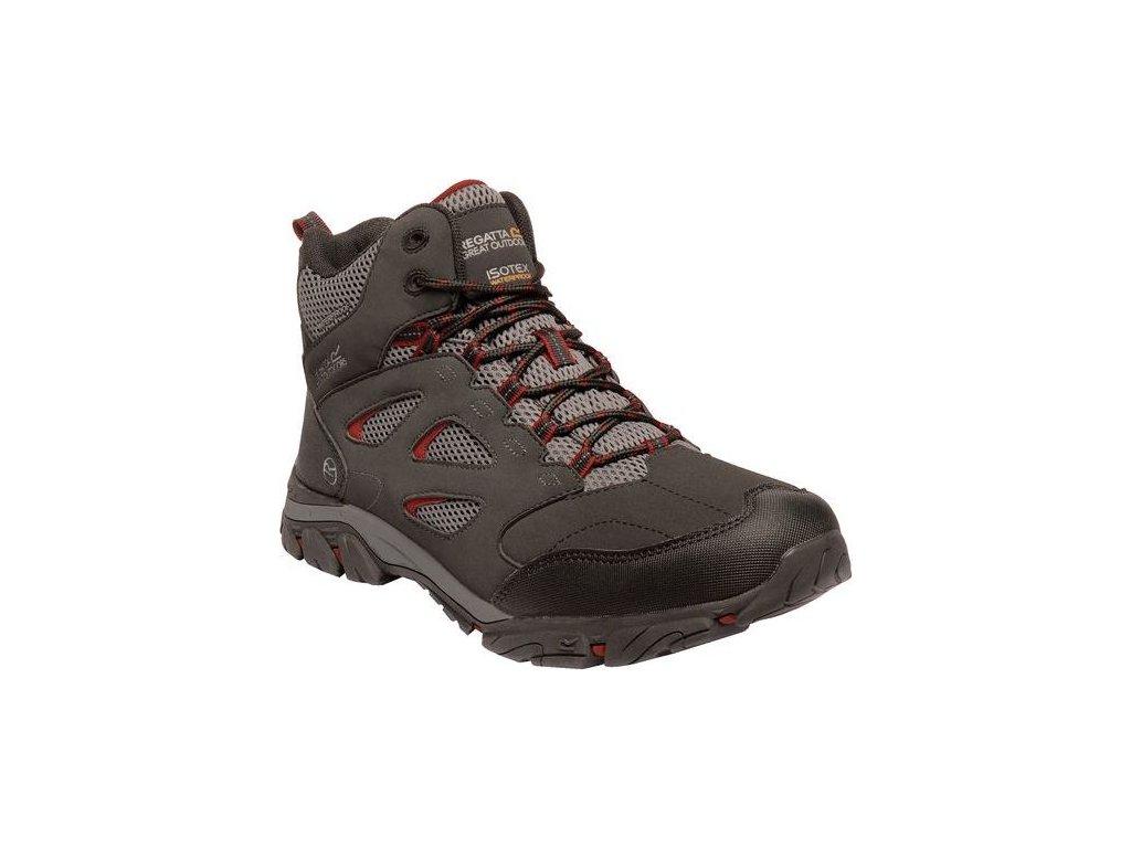 Męskie buty trekkingowe do kostki Holcombe IEP Zielono-brązowe