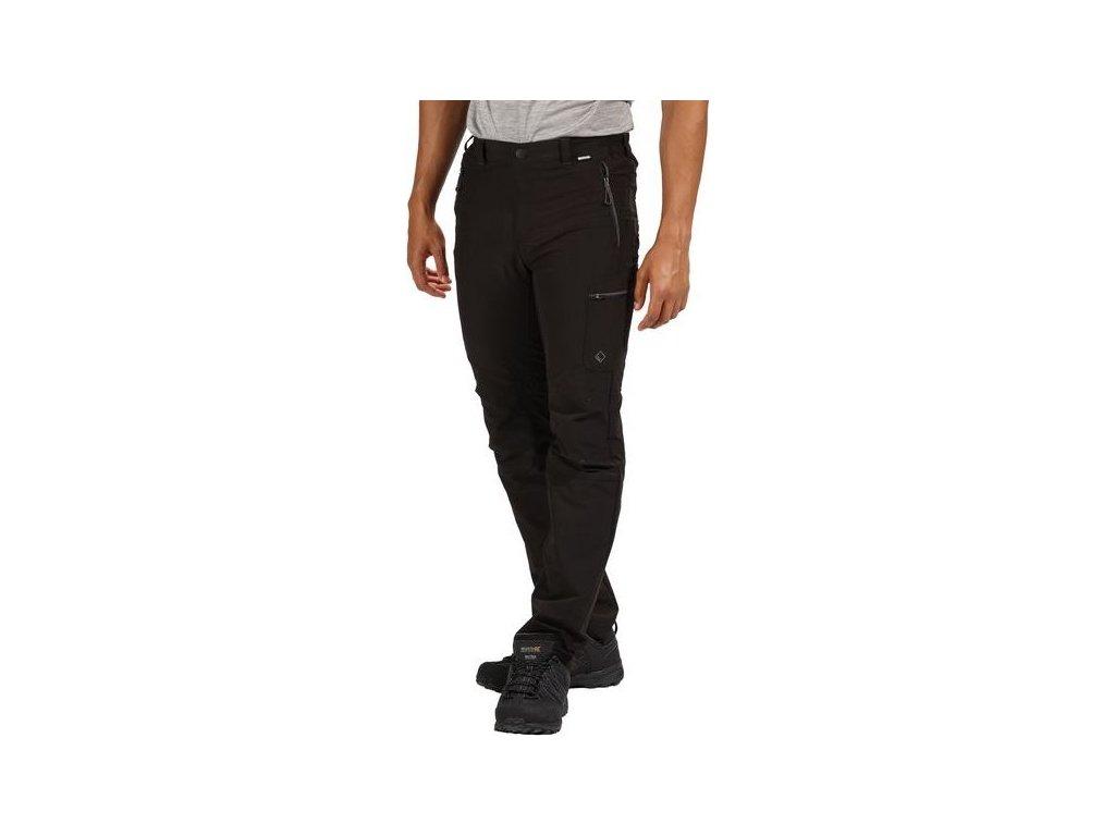 Czarne spodnie męskie Regatta RMJ216R Highton