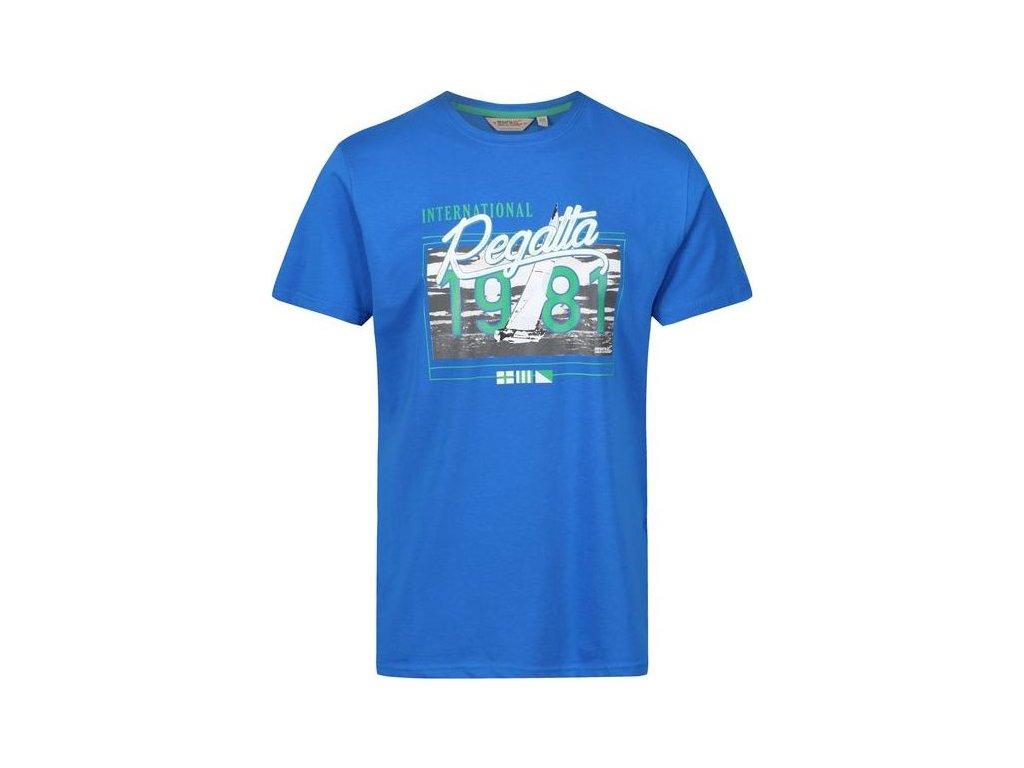 Niebieski t-shirt męski z nadrukiem Regatta RMT179 Cline III