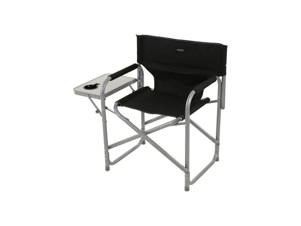 Director's Chair with Side Table RCE244 REGATTA Directors Chair Black Seal Grey