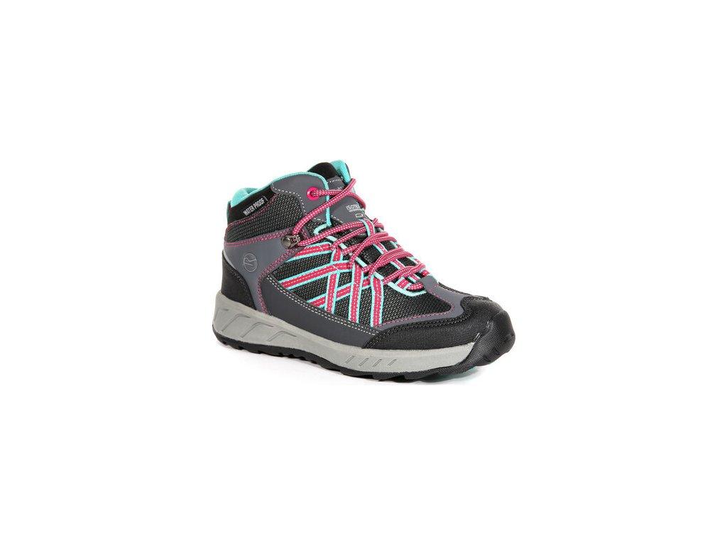 Ciemnoszare buty turystyczne dziecięce RKF509 REGATTA Samaris Mid