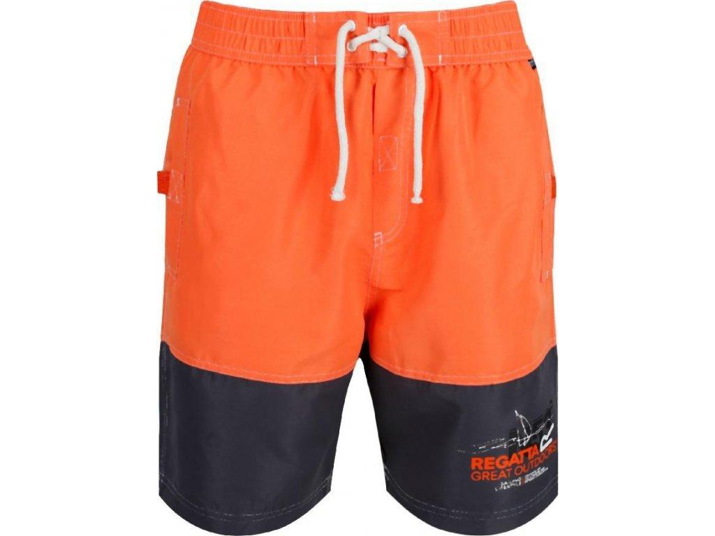 Pomarańczowe spodenki do pływania męskie RMM010 REGATTA Bratchmar III