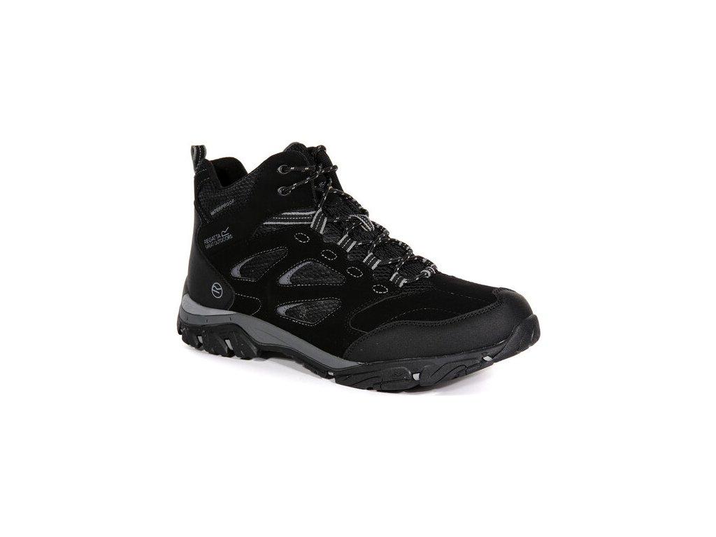 Męskie buty trekkingowe do kostki Regatta RMF573  Holcombe IEP Czarne
