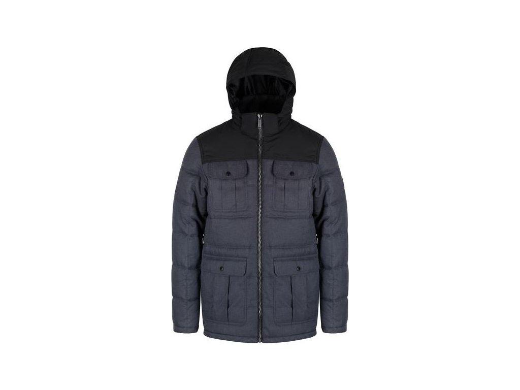 Zimowa kurtka meska z kapturem Regatta RMN111 Arnault Ciemnoszara