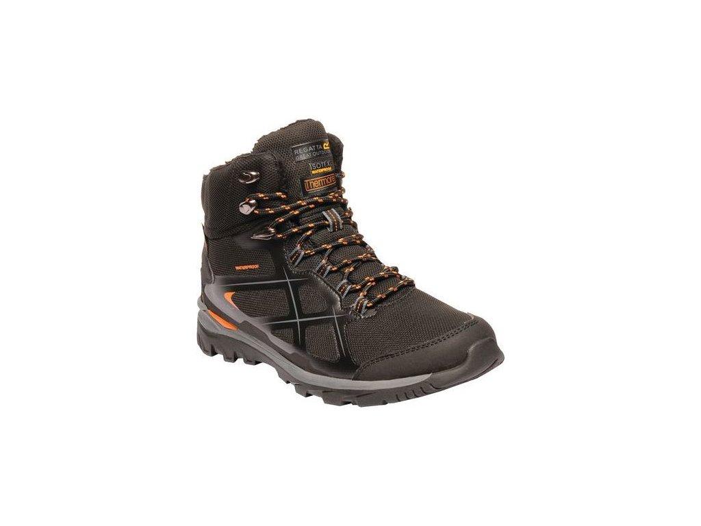 Ocieplane męskie buty trekkingowe do kostki RMF593 REGATTA Kota Thermo Mid Brązowe
