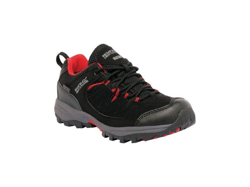 Dziecięce buty trekkingowe RKF449 REGATTA  Holcombe Low Czarna