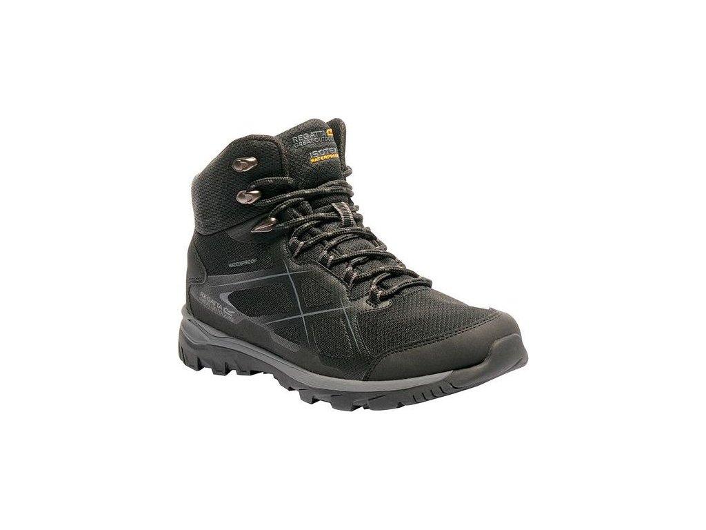 Czarne buty turystyczne męskie RMF490 REGATTA Kota Mid