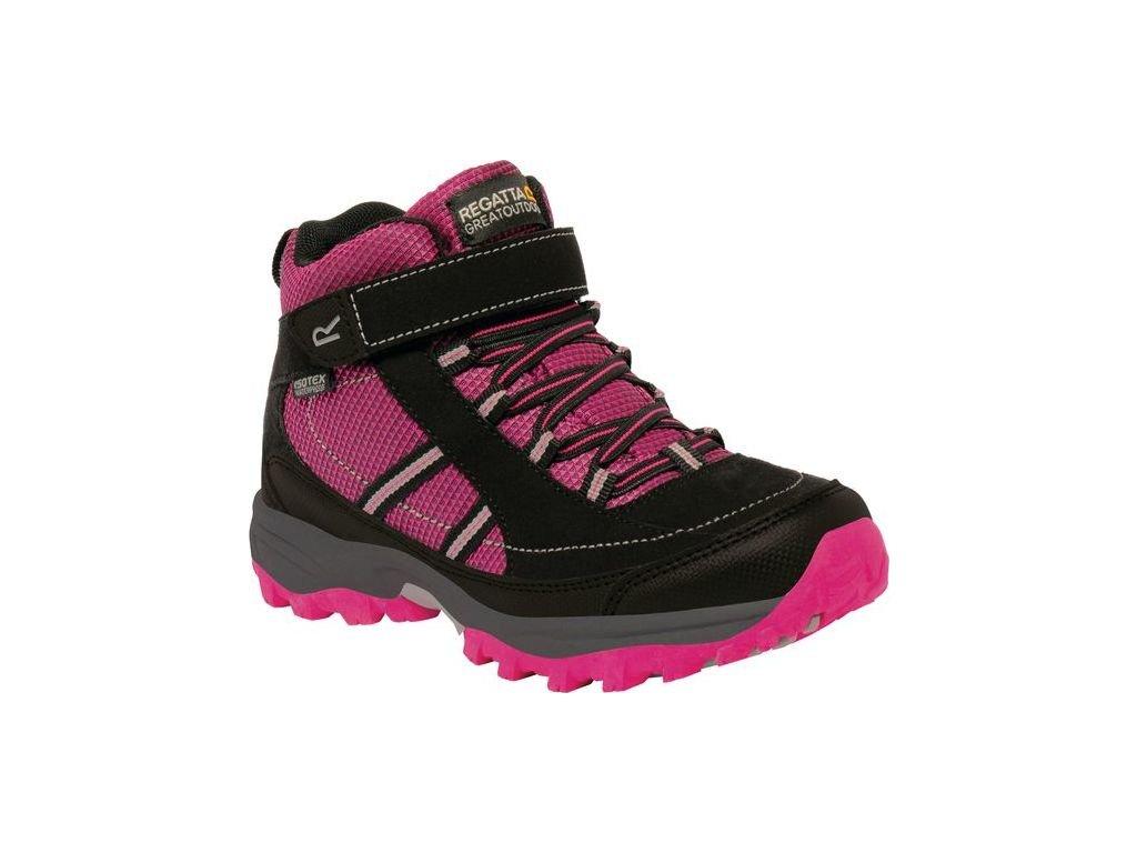 Różowe buty turystyczne dziecięce  REGATTA RKF511 Trailspace II Mid