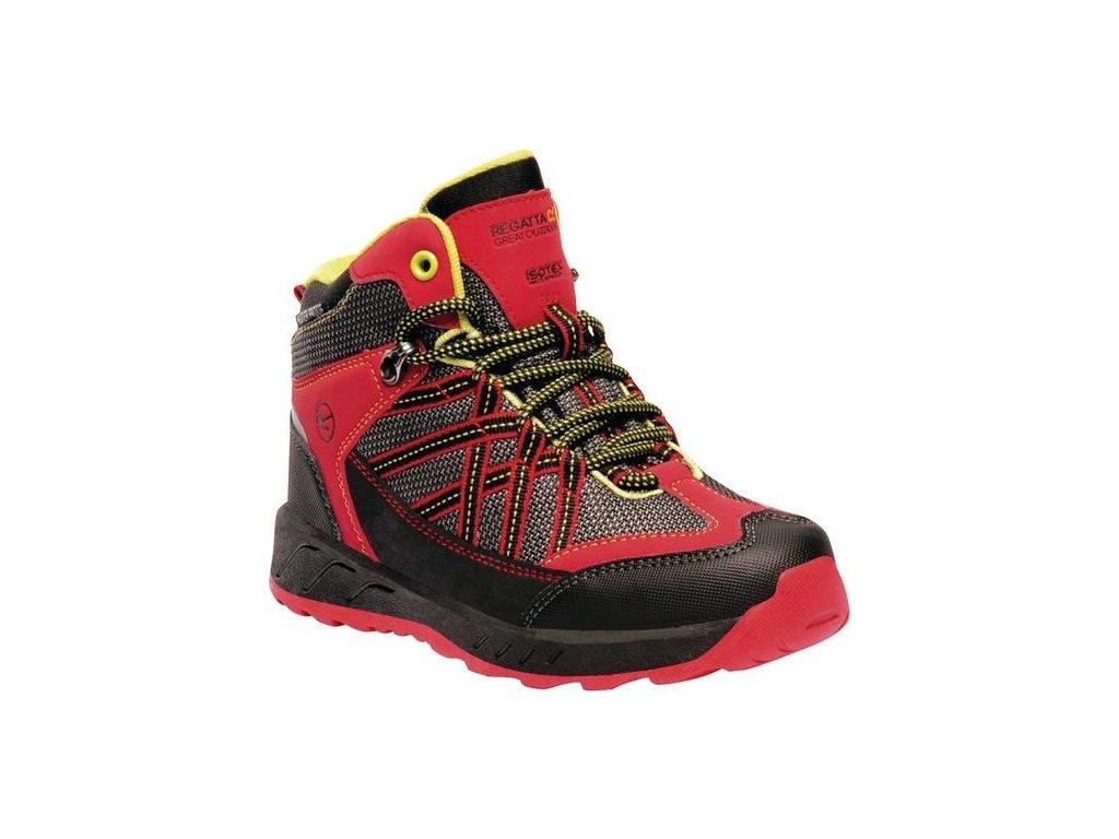 Czerwone buty turystyczne dziecięce RKF509 REGATTA Samaris Mid