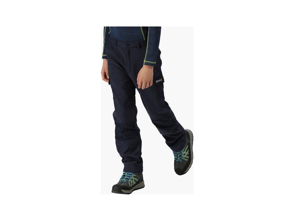 Spodnie dziecięce softshell Regatta RKJ018 WINTER SSHELL Ciemnoniebieski