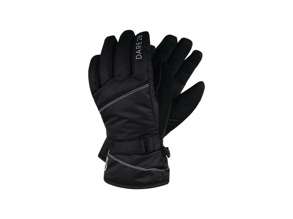 Dziewczęce czarne rękawiczki narciarskie DGG314 DARE2B Impish