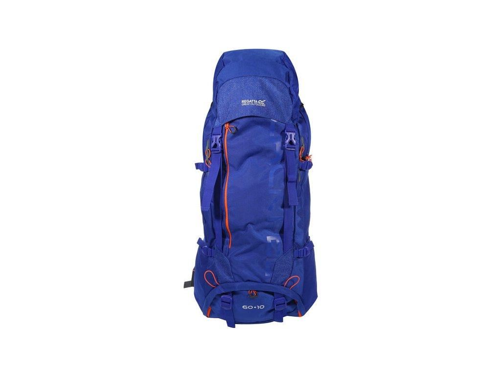 Niebieski rozkładany plecak turystyczny Regatta EU187 Blackfell 60+10