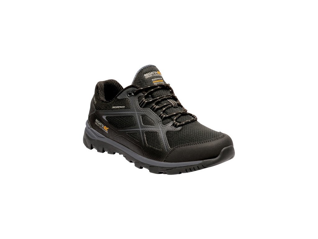 Męskie niskie buty turystyczne RMF623 REGATTA Kota Low II Czarny