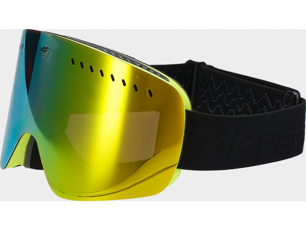 Okulary damskie narciarskie 4F GGD150 żółte