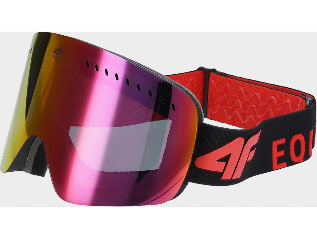 Gogle damskie narciarskie 4FGGM150 Czerwone