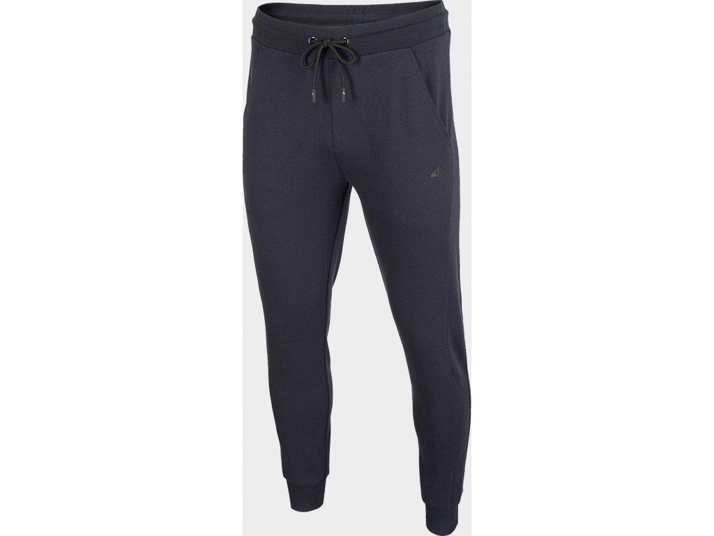 Męskie spodnie dresowe 4F D4Z19-SPMD301 Granatowy