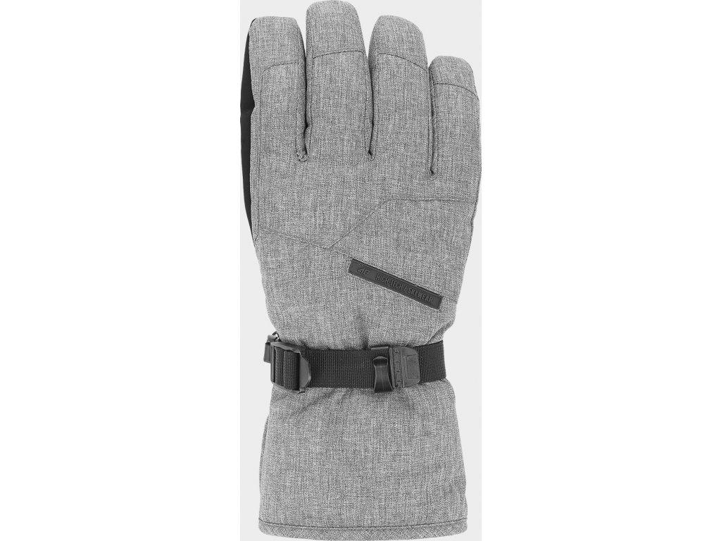 Męskie rękawice narciarskie 4F REM254 Szary